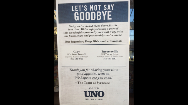 Uno Pizzeria & Grill closing its doors at Destiny