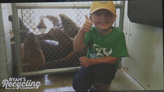 California 7-year-old uses recycling to save $10K for college