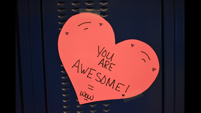 Anonymous Oswego teen leaves valentines for all 1,800 students in the high school