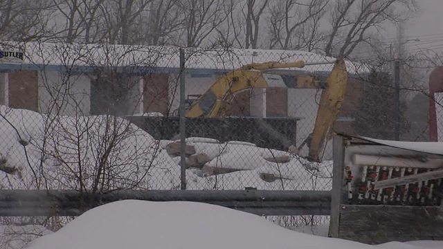 Demolition halted at the former Howard Johnson's in Carrier Circle