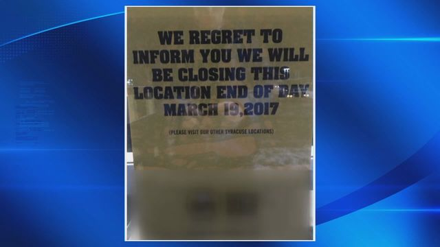 Cicero Buffalo Wild Wings says it will close March 19