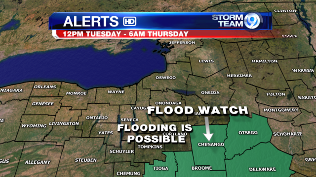 Flood Watch for parts of central NY