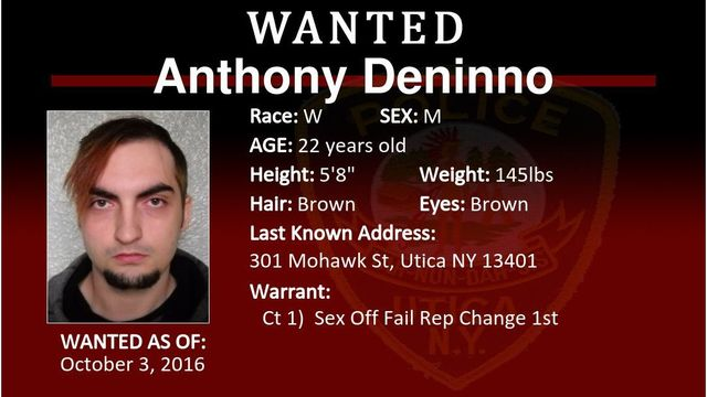 Utica Police offering $1,500 for information on wanted sex offender