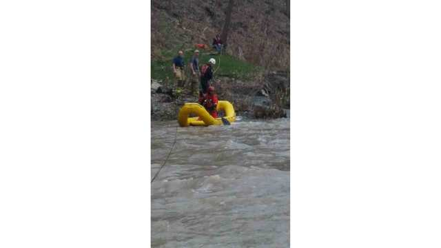 Firefighters rescue man and dog from Salmon Creek