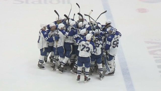 Syracuse Crunch skate to a 4-3 win in game two against St. John's