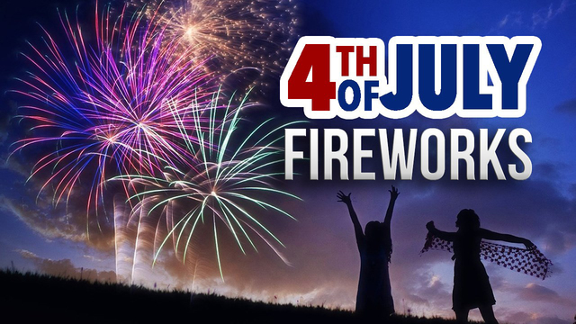 Find out where to see fireworks in your area for the Fourth of July weekend