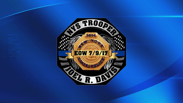 Local shop printing official Trooper Davis memorial decals