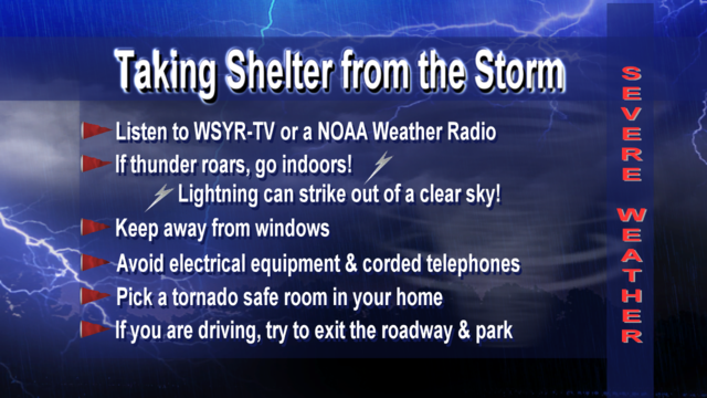 What to do if severe weather is heading your way