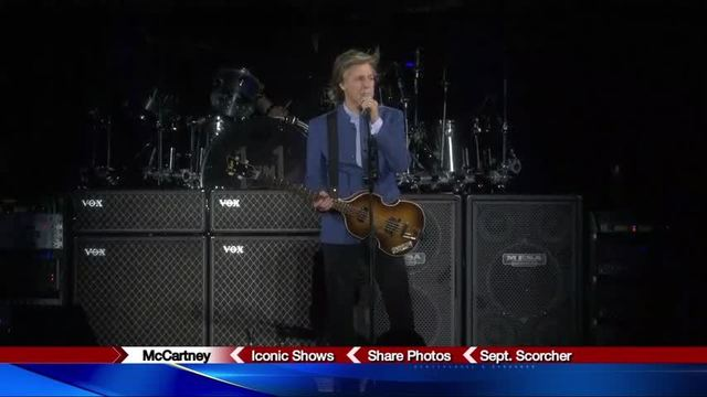 What songs Paul McCartney performed at the Carrier Dome