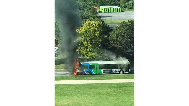 Centro bus catches fire on SUNY Oswego campus