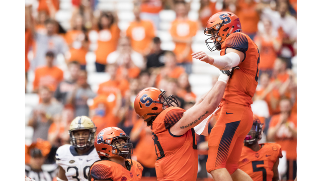 Syracuse holds off Pittsburgh 27-24 for first ACC win