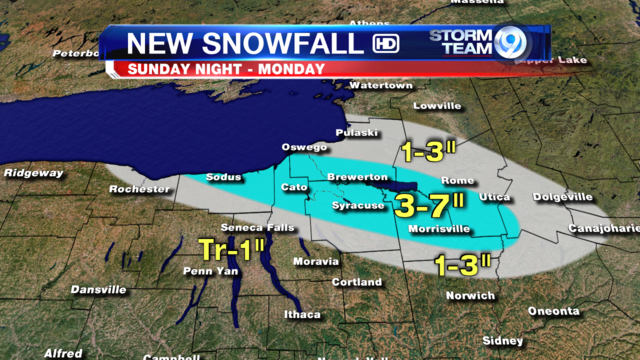 Several Inches of Lake Effect Forecast for Utica-Rome