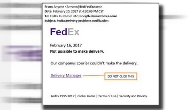 FedEx warns customers of phony email alerts