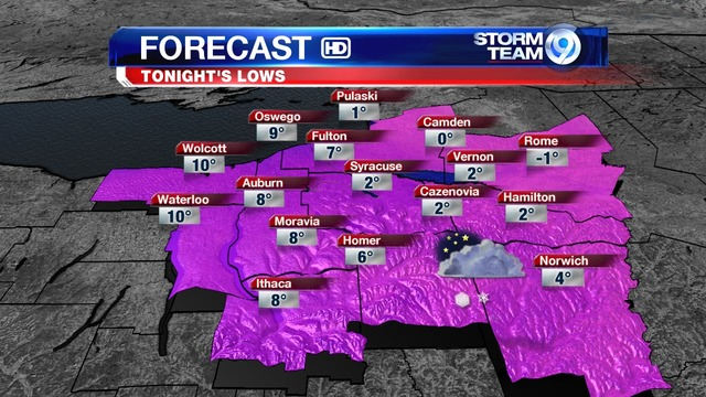 Forecast Brisk With Some Lake Snow Tonight LocalSYR - Wsyr weather forecast