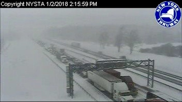 At least 75 vehicles involved in crash on Thruway near Buffalo