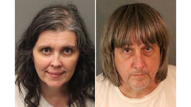 Surveillance shows arrests of parents in Southern California torture case