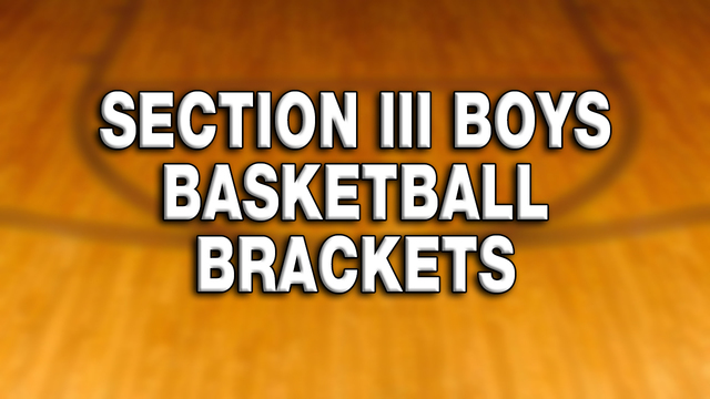 Check out the high school boys Section III brackets