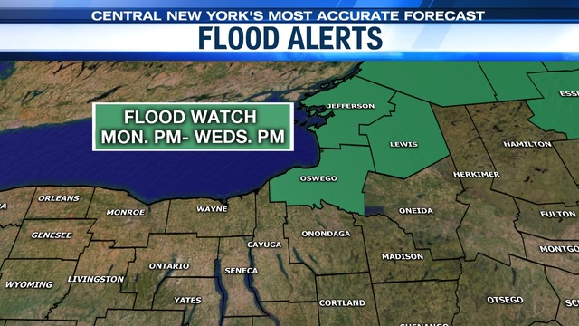 Flood alerts in Upstate NY as record highs mix with heavy rain