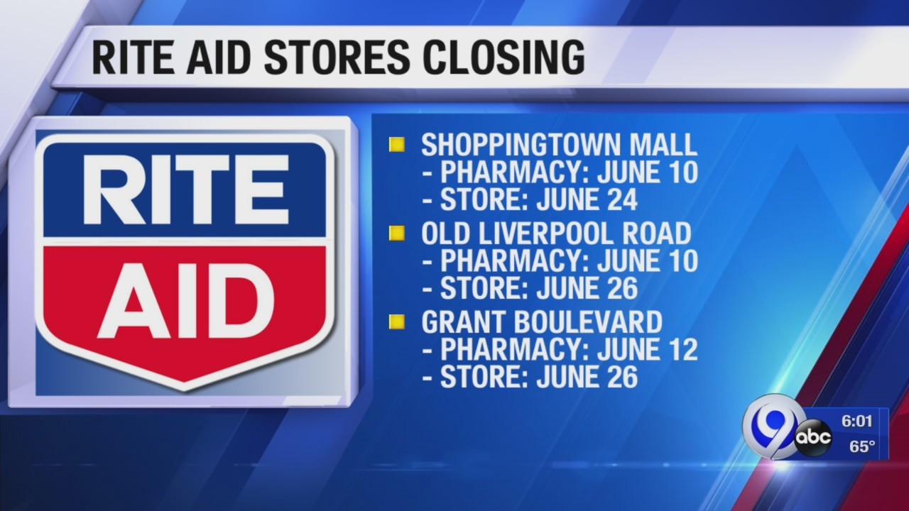 Three local Rite Aid stores closing down, including one at ShoppingTown Mall: Your Stories