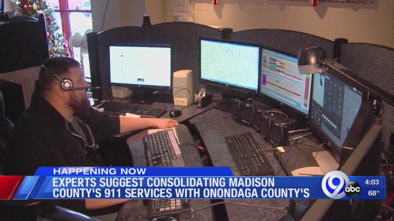 After year-long study, experts suggest consolidating Madison Co.'s 911 services with Onondaga Co.