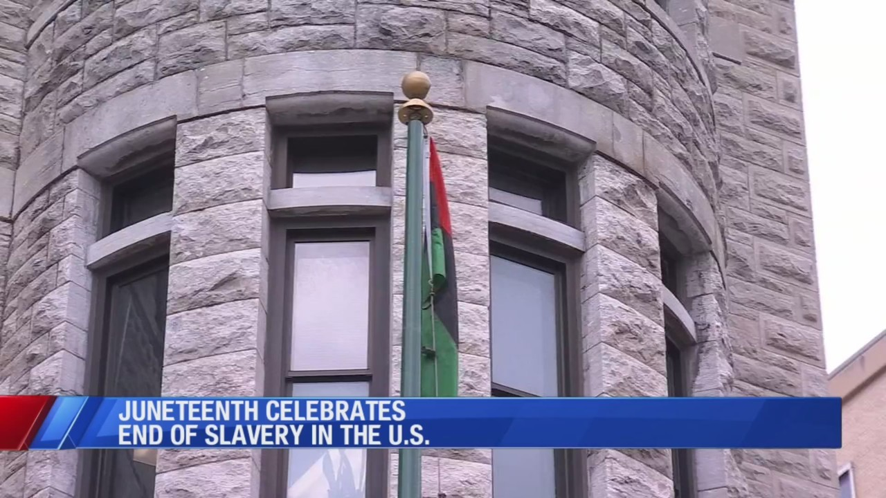 Flag raised over City Hall in honor of Juneteenth this weekend