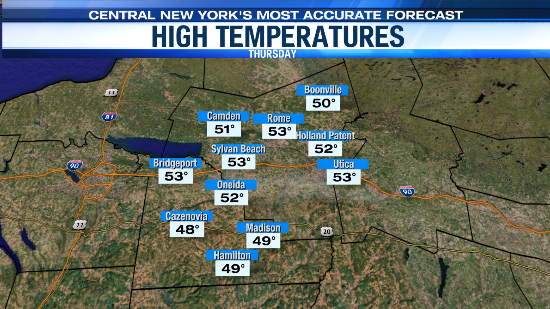Regional Weather – Madison and Oneida County | WSYR