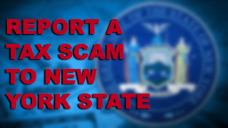 NYS Tax scam button