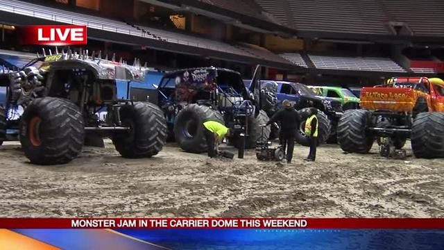 Where to park for the Monster Jam show tonight
