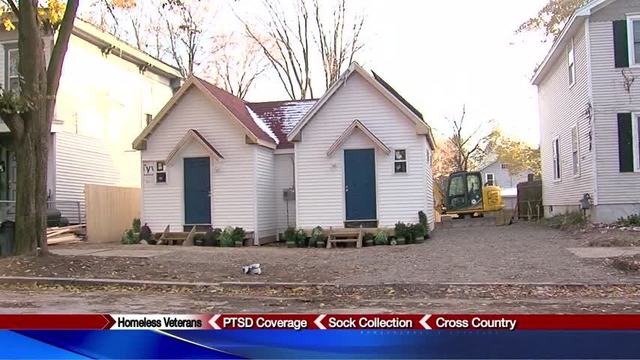 volunteers build tiny homes for female homeless veterans in cny