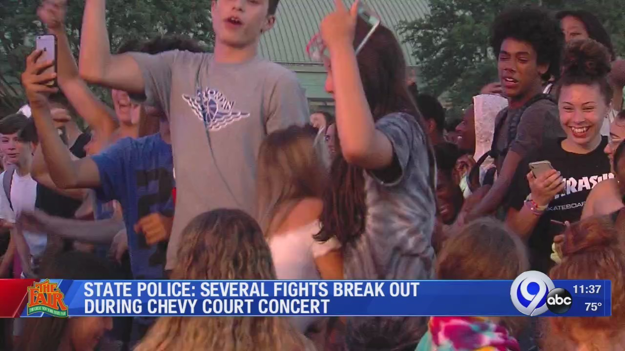 State Police Several Fights Break Out During Chevy Court Concert