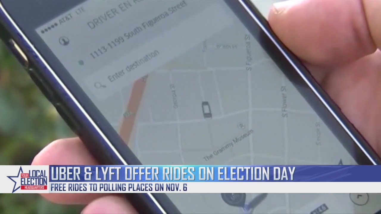 uber free rides election day
