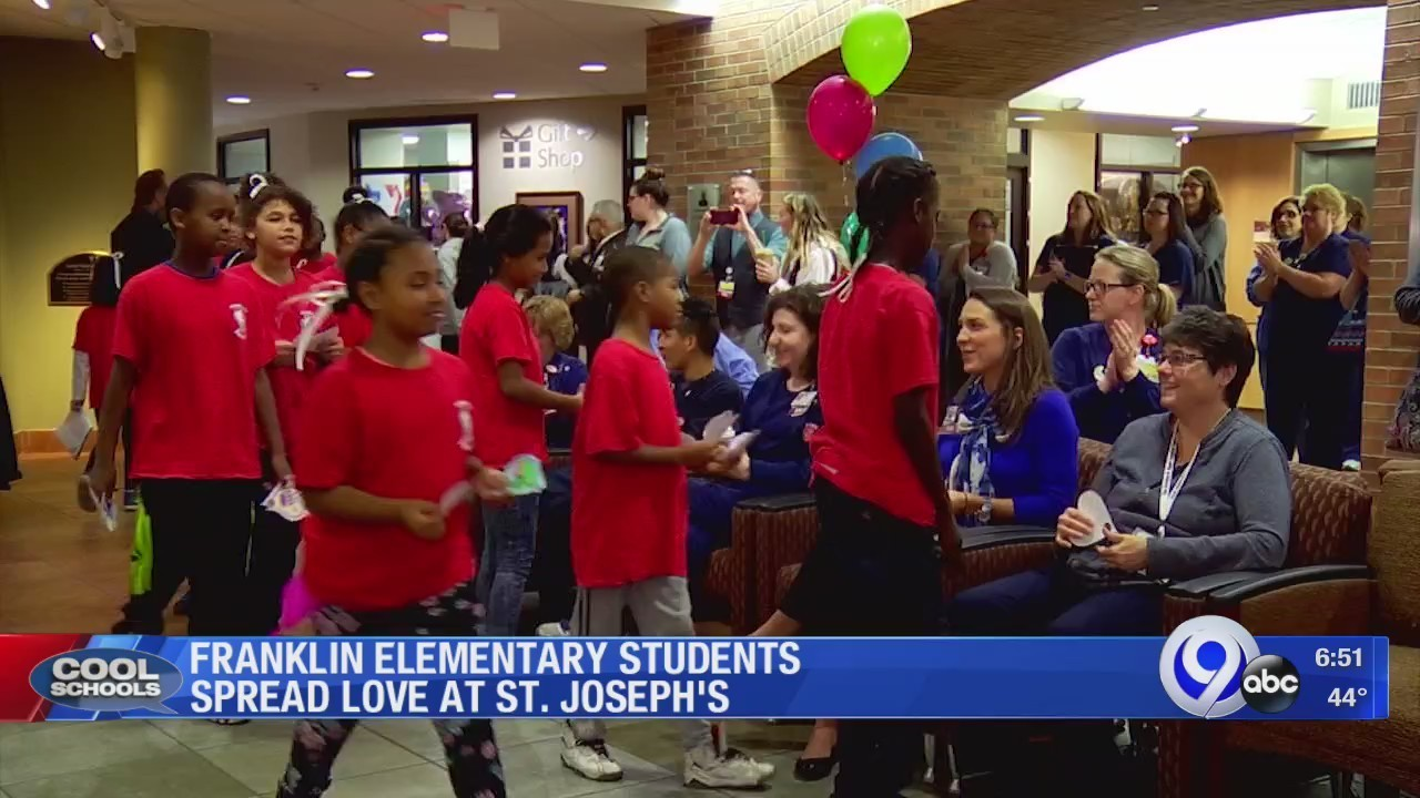 Franklin Elementary Students Spread Love at St  Joseph's: 11