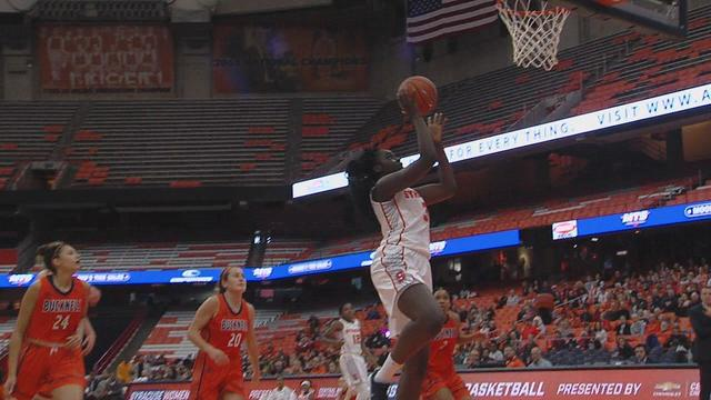 Syracuse Women S Basketball Holds Off Charge From Bucknell