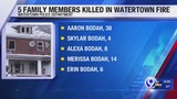 Watertown Police identify the 4 children, 1 adult killed in house fire