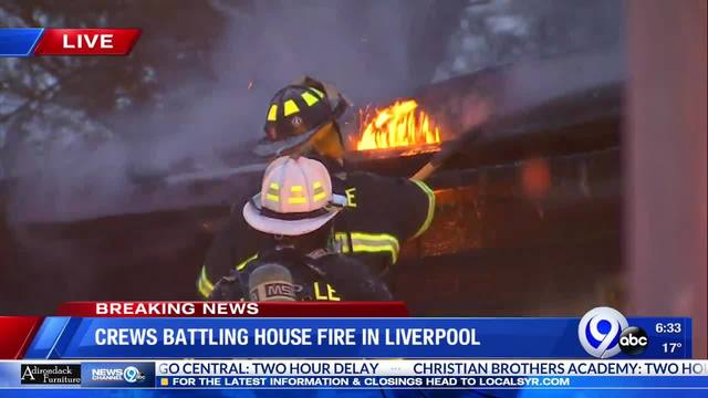 Fire crews battle cold, snow and flames in Liverpool