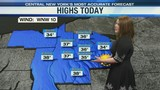 FORECAST: Sunny but cold for now