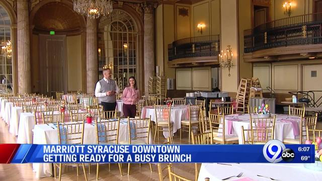 Marriott Syracuse Downtown getting ready for a busy brunch