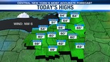 FORECAST: Mainly dry today, just a few spotty afternoon showers