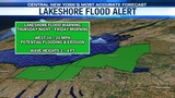 Lakeshore Flood Warning in effect tonight into Friday